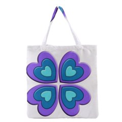 Light Blue Heart Images Grocery Tote Bag