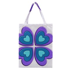 Light Blue Heart Images Classic Tote Bag