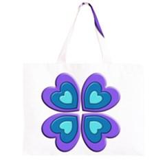 Light Blue Heart Images Large Tote Bag