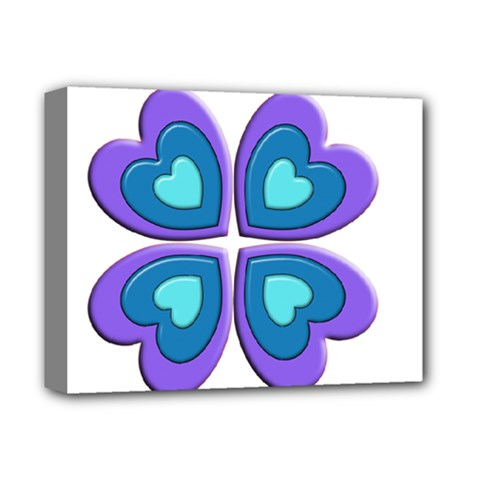Light Blue Heart Images Deluxe Canvas 14  X 11