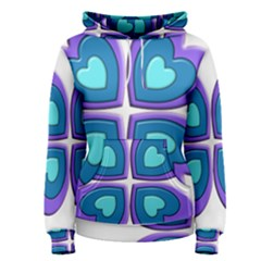 Light Blue Heart Images Women s Pullover Hoodie
