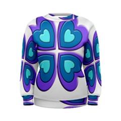Light Blue Heart Images Women s Sweatshirt