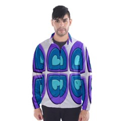 Light Blue Heart Images Wind Breaker (men)