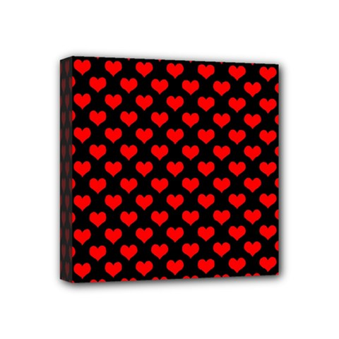 Love Pattern Hearts Background Mini Canvas 4  X 4