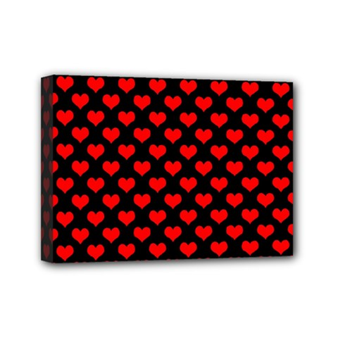 Love Pattern Hearts Background Mini Canvas 7  X 5