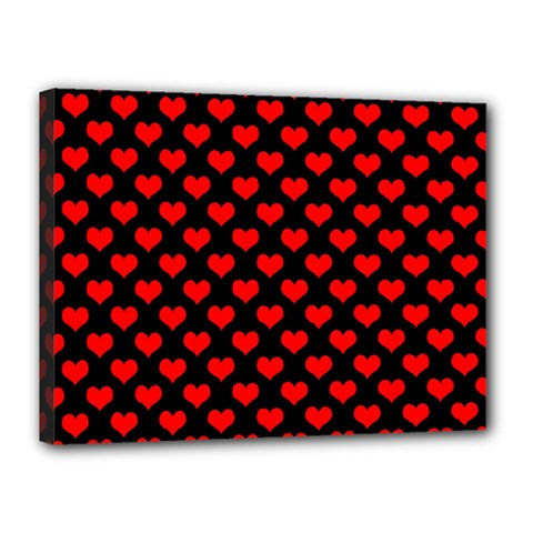 Love Pattern Hearts Background Canvas 16  X 12