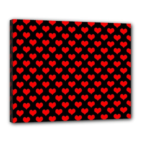 Love Pattern Hearts Background Canvas 20  X 16