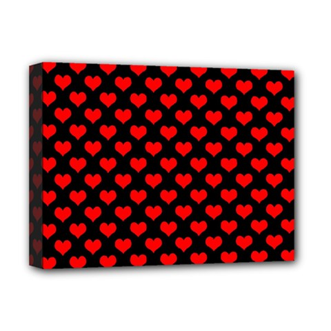 Love Pattern Hearts Background Deluxe Canvas 16  X 12