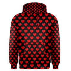 Love Pattern Hearts Background Men s Pullover Hoodie