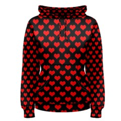 Love Pattern Hearts Background Women s Pullover Hoodie