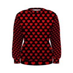 Love Pattern Hearts Background Women s Sweatshirt