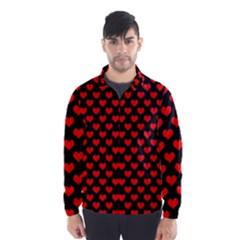 Love Pattern Hearts Background Wind Breaker (men)