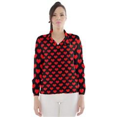 Love Pattern Hearts Background Wind Breaker (women)