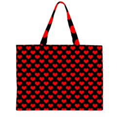 Love Pattern Hearts Background Large Tote Bag