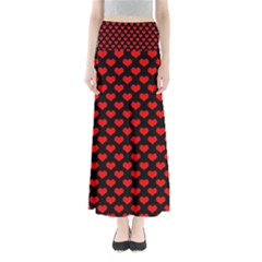 Love Pattern Hearts Background Maxi Skirts