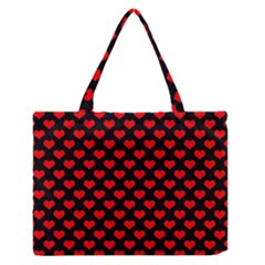 Love Pattern Hearts Background Medium Zipper Tote Bag