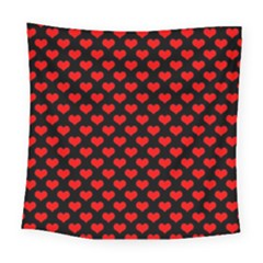 Love Pattern Hearts Background Square Tapestry (large)