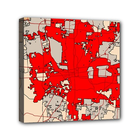 Map Of Franklin County Ohio Highlighting Columbus Mini Canvas 6  X 6