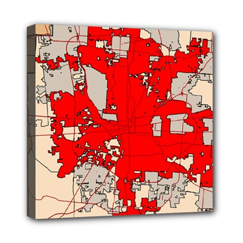 Map Of Franklin County Ohio Highlighting Columbus Mini Canvas 8  x 8
