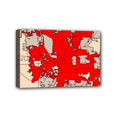 Map Of Franklin County Ohio Highlighting Columbus Mini Canvas 6  X 4