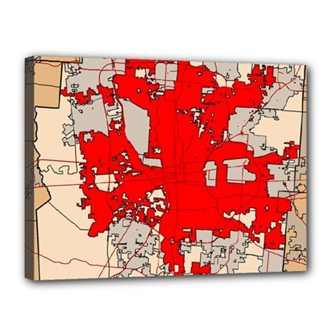 Map Of Franklin County Ohio Highlighting Columbus Canvas 16  X 12