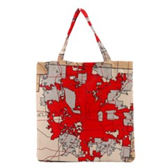 Map Of Franklin County Ohio Highlighting Columbus Grocery Tote Bag