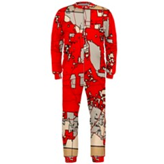 Map Of Franklin County Ohio Highlighting Columbus Onepiece Jumpsuit (men)