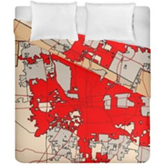 Map Of Franklin County Ohio Highlighting Columbus Duvet Cover Double Side (california King Size)