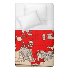 Map Of Franklin County Ohio Highlighting Columbus Duvet Cover (single Size)