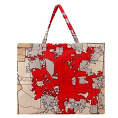 Map Of Franklin County Ohio Highlighting Columbus Zipper Large Tote Bag