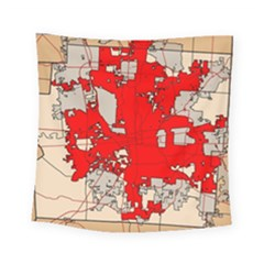 Map Of Franklin County Ohio Highlighting Columbus Square Tapestry (small)