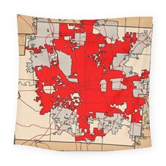 Map Of Franklin County Ohio Highlighting Columbus Square Tapestry (large)