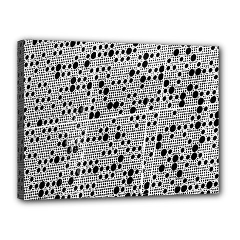 Metal Background Round Holes Canvas 16  X 12