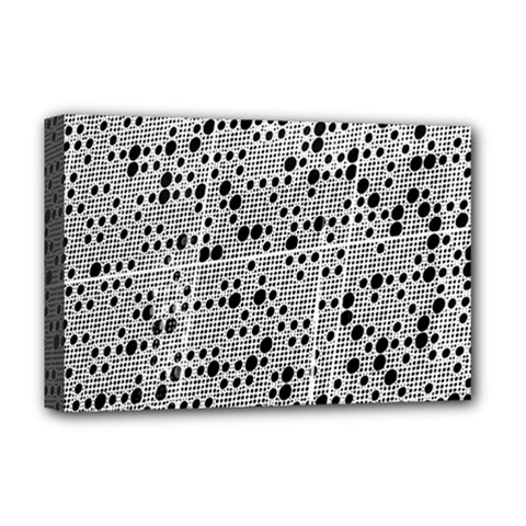 Metal Background Round Holes Deluxe Canvas 18  X 12