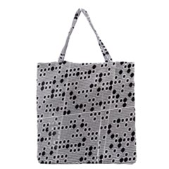 Metal Background Round Holes Grocery Tote Bag