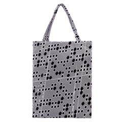 Metal Background Round Holes Classic Tote Bag