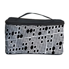 Metal Background Round Holes Cosmetic Storage Case