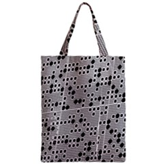 Metal Background Round Holes Zipper Classic Tote Bag