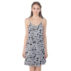 Metal Background Round Holes Camis Nightgown
