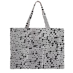 Metal Background Round Holes Large Tote Bag