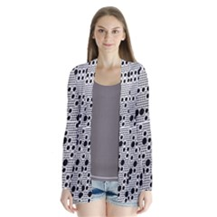 Metal Background Round Holes Cardigans