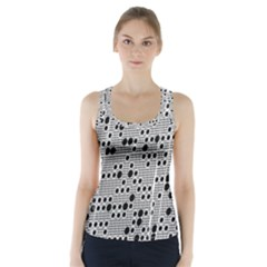 Metal Background Round Holes Racer Back Sports Top
