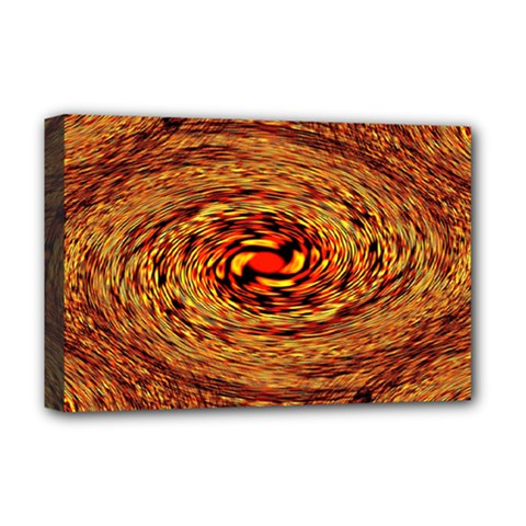 Orange Seamless Psychedelic Pattern Deluxe Canvas 18  X 12
