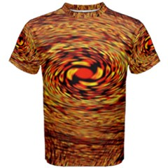 Orange Seamless Psychedelic Pattern Men s Cotton Tee