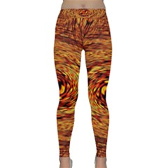 Orange Seamless Psychedelic Pattern Classic Yoga Leggings
