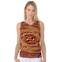 Orange Seamless Psychedelic Pattern Women s Basketball Tank Top