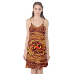 Orange Seamless Psychedelic Pattern Camis Nightgown