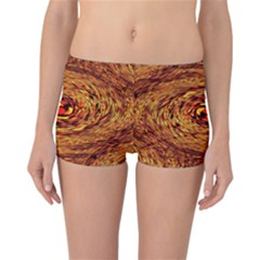 Orange Seamless Psychedelic Pattern Reversible Bikini Bottoms