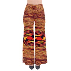 Orange Seamless Psychedelic Pattern Pants