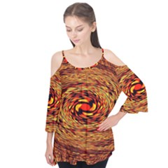 Orange Seamless Psychedelic Pattern Flutter Tees